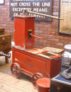 GWR fire pump in the Gauge Museum at Bishops Lydeard