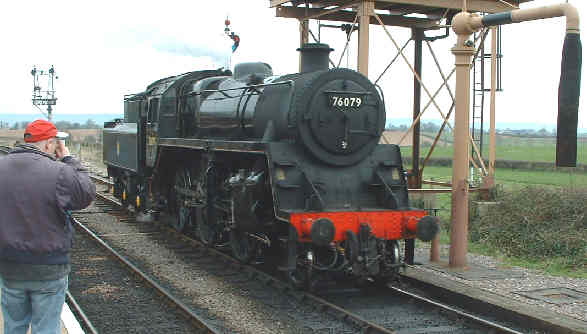 76079 by thw water tower at Bishops Lydeard