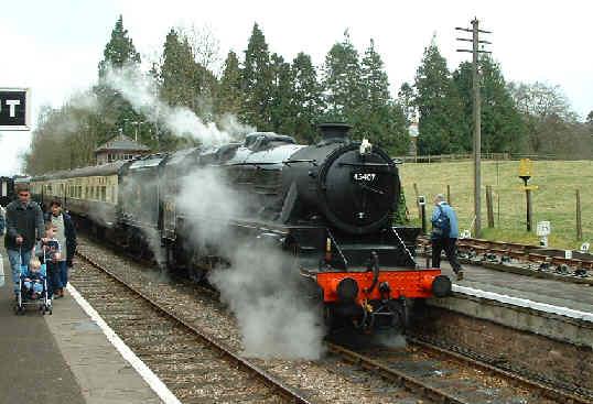 Black 5 45407 at Crowcombe Heathfield