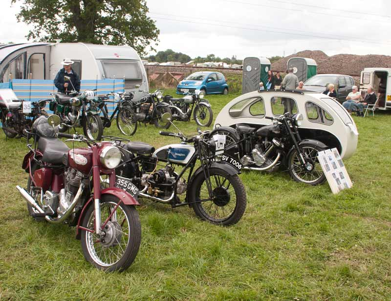 Royal Enfield, Douglas and Triumph motorbikes