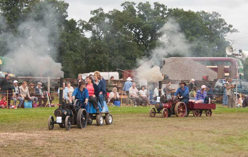 Miniature traction engines and riding wagons