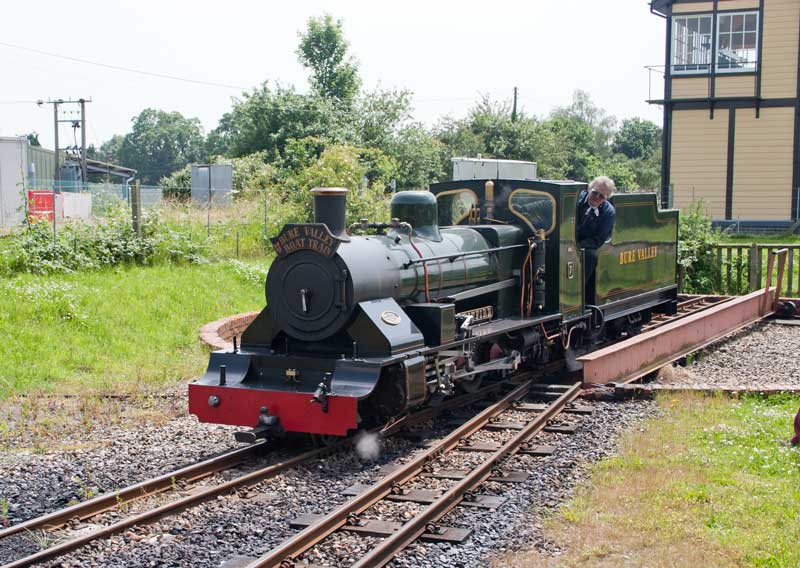 No. 7 moves off the turntable