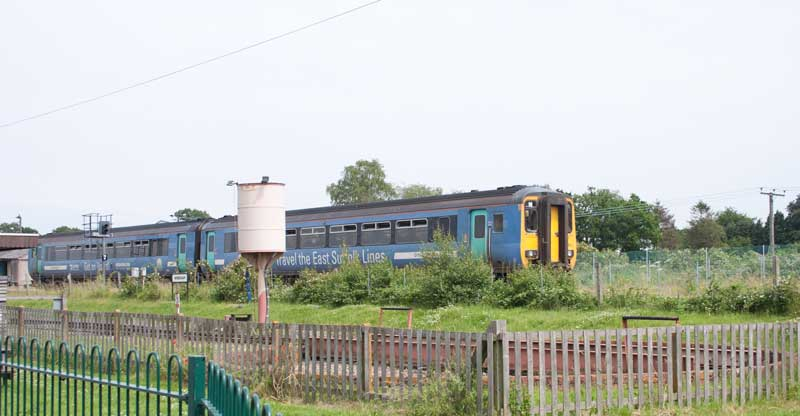 Class 156 unit on passing the BVR
