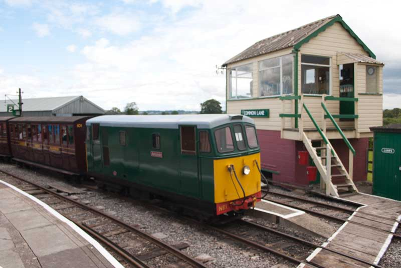 Gartell Light Railway No 1 in the station.