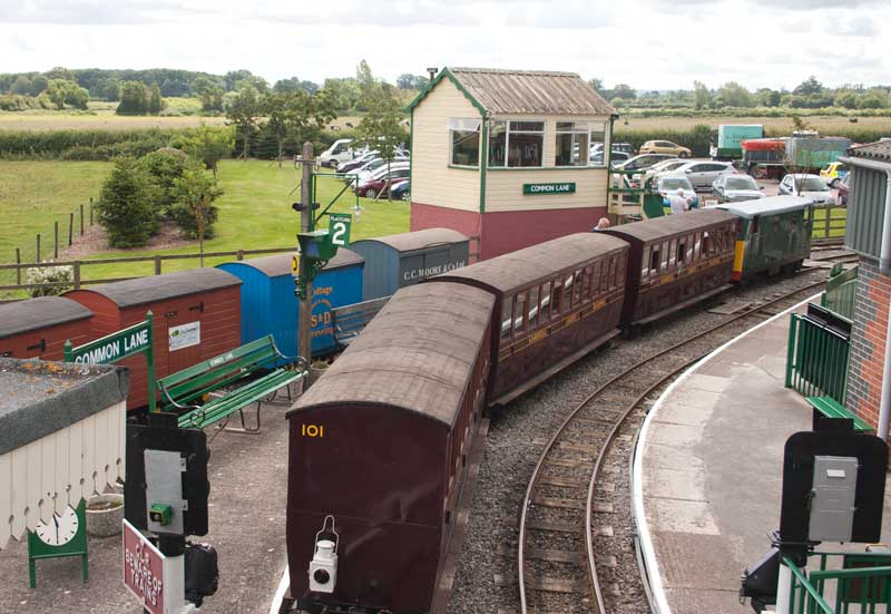 Common Lane station and signal box