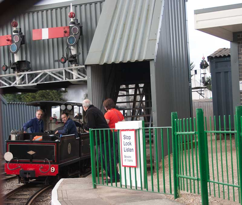 Steam loco arriving at Common Lane station.