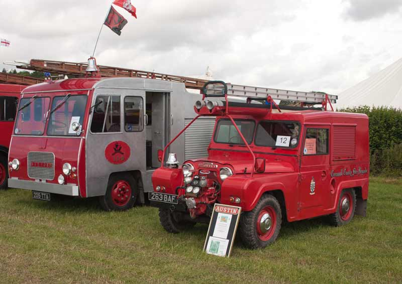 1963 Bedford J2 and Austin Gypsy fire engines