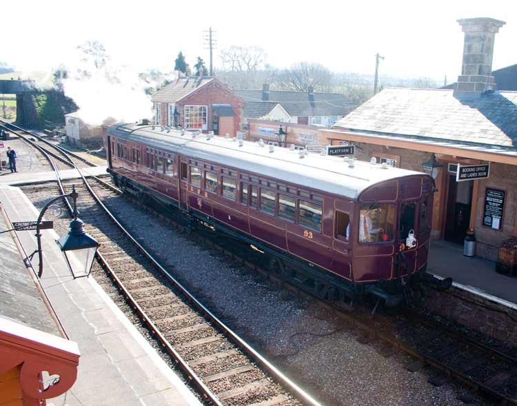 Railmotor 93 at Williton