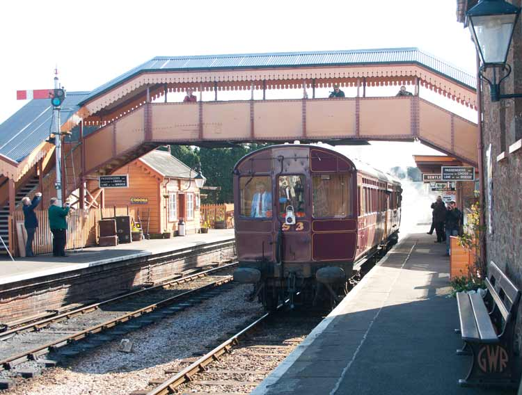 Railmotor 93 moves off