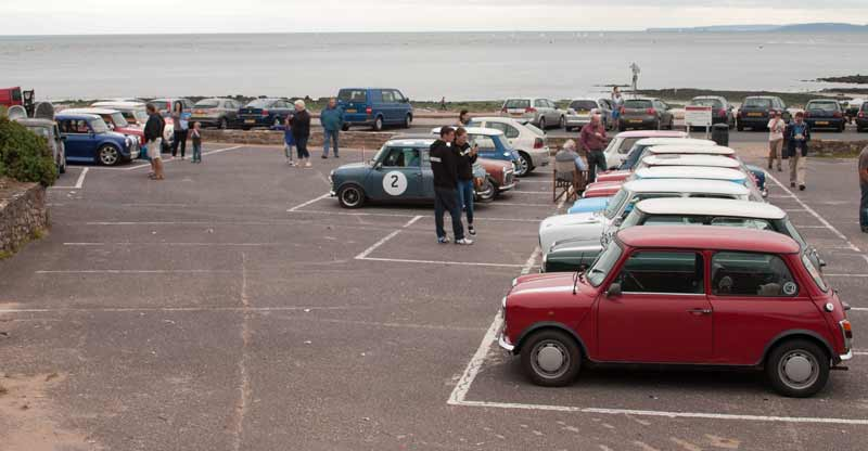 Variety of Minis in car park