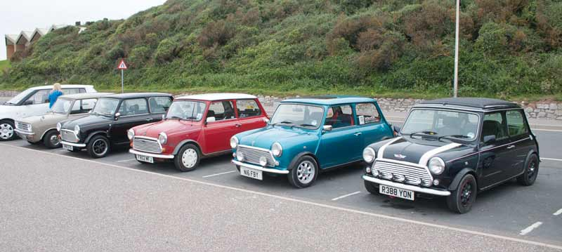 Variety of Minis on the sea front